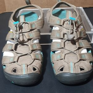 Keen sandals, turquoise/ tan